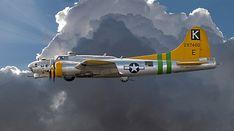 B17 Flying Fortress World War II bomber.