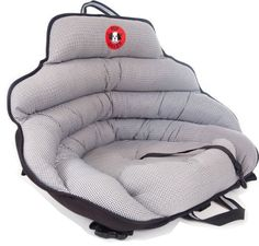 Pup Saver- a lightweight and portable rear-facing car seat for small dogs. Crash-tested.
