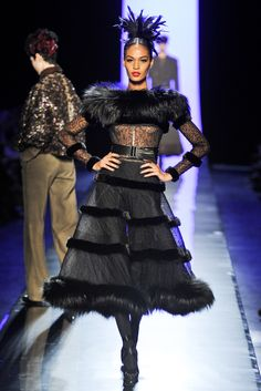 Jean Paul Gaultier Fall Couture 2011. 1909-1914 Costume for Women: here we see a skirt very similar to Poiret's minaret tunic.