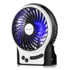 OPOLAR Mini Portable Battery Operated Desk Fan with Battery Life, Rechargeable & USB powered Handheld Fan for Desk Beach Camping, 3 Speeds, Strong Airflow, Internal Blue Light& Side Flash Light Small Desk Fan, Small Fan, Portable Fan, Portable Battery, Car Camping Essentials, Personal Fan, Hand Held Fan, Usb, Shopping