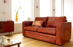 Trafalgar Compact Leather Sofa
