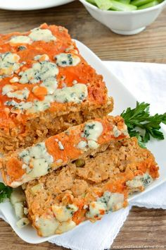 Buffalo Chicken Meatloaf - Mother Thyme.  I'll substitute corn meal for the bread crumbs and omit the dill.  That sounds odd in this dish. :)