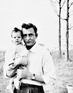 Johnny Cash and daughter Roseanne - 1956