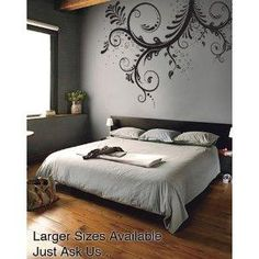 Vinyl Wall Art Decal Sticker Floral Ornaments Flower LARGE Design - Imagine the patience required to put this on the wall!
