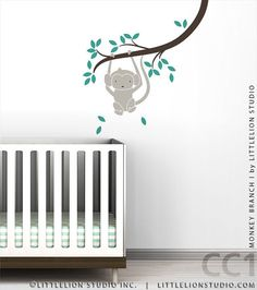 Monkey Branch I Wall Decal by LittleLion Studio by LeoLittleLion, $47.00