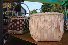 Beautifully crafted baskets at the Hubbards Farmers' Market
