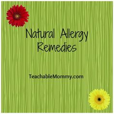 Check out these #Natural #Allergy #Remedies that you may find useful. #Allergies #Health #Herbal