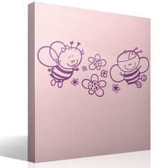 Stickers for Kids Bee from flower to flower