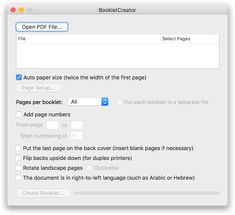 BookletCreator - create a booklet from a PDF document