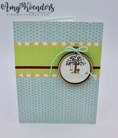 Stampin' Up! Mini Embroidery Hoop A Good Day Card – Stamp With Amy K