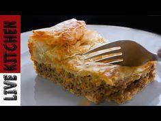 LIVE KITCHEN CHANNEL - YouTube Spanakopita, Kitchen Living, Lasagna, Pie, Ethnic Recipes, Desserts, Food, Channel, Youtube