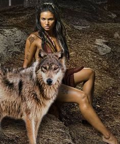 🐺💕💃🏻Wolves and Women Images? to explore … 🐺💕💃🏻Wolves and Women Images? to explore awesome wolf decor,. Native American Girls, Native American Beauty, Wolf Spirit, Spirit Animal, Wolves And Women, Fantasy Wolf, Wolf Love, Wolf Pictures, Beautiful Wolves