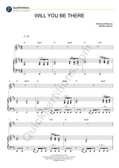 Will You Be There Piano Sheet Music - Michael Jackson