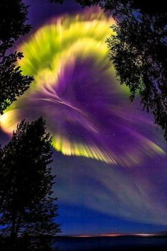 Northern lights over Murmansk region, Russia