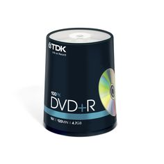 TDK DVD+R 16x 100pc Spindle | Drives IT Distribution