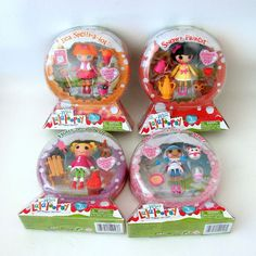 Mini Lalaloopsy 4 Dolls Snowy Fairest Bea Mittens Holly Series 10 Snow Globe #Dolls