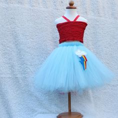 Rainbow Dash Tutu Skirt  My little Pony Friendship by BloomsNBugs, $50.00