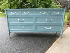 Valspar's paint and primer in one in the color Lucy Blue
