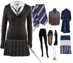 RavenclawUniformEnsemble.jpg Ravenclaw Uniform with wand