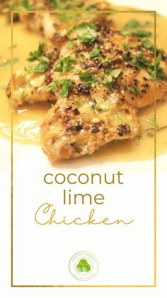 Coconut Lime Chicken is the perfect summer dinner. It is quick, easy, and light but bursting with TONS of flavor, making this a dish everyone is sure to LOVE!