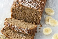 Kokos Banaan Havermoutbrood - OhMyFoodness Healthy Pastry Recipe, Pastry Recipes, Baking Recipes, Cake Recipes, Healthy Sweets, Healthy Baking, Healthy Food, Muffins Sains, Stevia