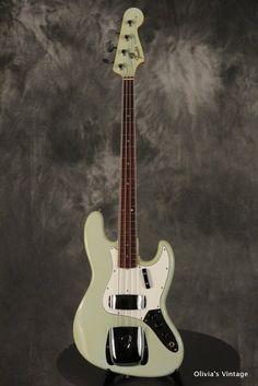 1966 Fender JAZZ BASS rare custom color SONIC BLUE w/matching headstock