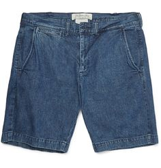 Remi Relief washed denim shorts