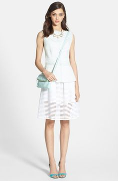 Chelsea28 Eyelet Cotton Full Skirt | Nordstrom