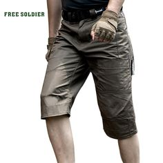 d944d014ae93 FREE SOLDIER Outdoor Sports Hiking Tactical Shorts Men s Summer Military  Shorts Pants For Climbing