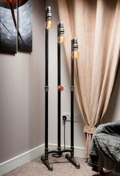 Steampunk Pipe Inspired Floor Lamp for Perfect Lighting of Living Dining Bedroom