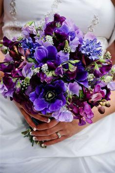 blue purple bouquet Studio Bash Photography www.studiobash.com