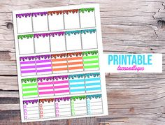 Printable Planner Stickers Erin Condren Boxes To by LaceAndLogos