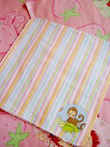 Soft Flannel Baby Wash Cloths   FaveQuilts.com