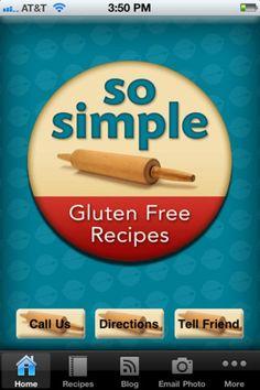 iPhone app - So Simple Gluten Free Recipes