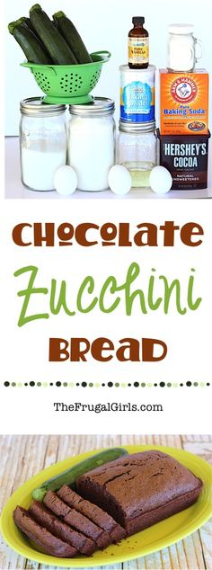 The perfect way to use some of the zucchini you've been growing in your garden, or just bake up an easy and delicious treat for the family! Extra loaves freeze well, too! Chocolate Zucchini Bread, Zucchini Bread Recipes, Banana Bread Recipes, Delicious Desserts, Dessert Recipes, Yummy Food, Healthy Food, Best Pumpkin Bread Recipe, Easy Biscuit Recipe