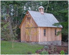 Mini Pole Barn Plans for garages, shops, home offices, hobby barns, studios, sheds and more.