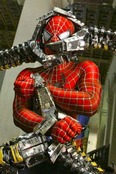 - 2004 - Tobey Maguire as Spider-Man with Dr Octopus