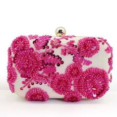 The Florence Begonia Clutch Bridal Handbags, Trendy Handbags, Embroidered Bag, Begonia, Handmade Wedding, Luggage Bags, Evening Bags, Coin Purse, Floral Prints