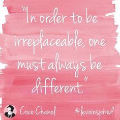 """""""Strength lies in differences, not in similarities."""" —Stephen R. Covey // #levoinspired #cocochanel #levolove"""