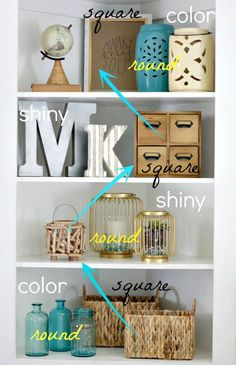 shelf styling ideas and tips