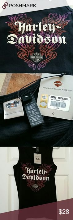 HARLEY DAVIDSON BLING TANK TOP. NWT   XL Awesome bling ribbed tank top. NWT  No Dealer Name. Harley-Davidson Tops Tank Tops