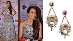 GET THIS LOOK: Malaika Arora Khan looks stunning in these true lovers knot earrings by Outhouse. Shop the designer now at: http://www.perniaspopupshop.com/designers-1/outhouse