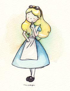As Princesas Disney por Malipi Disney Princess Drawings, Disney Drawings, Cute Drawings, Princess Alice, Princess Art, Disney Fan Art, Cute Characters, Disney Characters, Disney Illustration