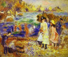 Children+on+the+Beach+Guernsey+Renoir.jpg (704×589)