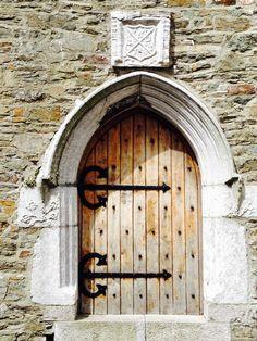 Door in the Desmond House Castle in Kinsale, Ireland.