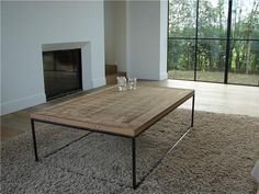 nieuwe salontafel met blad uit Afrikaans hardhout