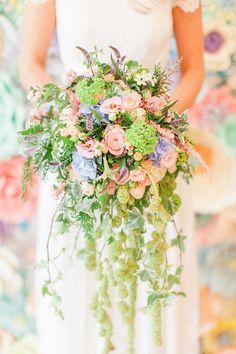 gorgeous bouquet Tea Party Wedding, Mod Wedding, Wedding Shoot, Floral Wedding, Whimsical Wedding Ideas, Wedding Music, Wedding Reception, Wedding Gifts, Trailing Bouquet