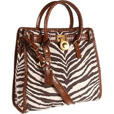 MICHAEL Michael Kors Hamilton Whipped Canvas Large North/South Tote Tiger - Zappos.com Free Shipping BOTH Ways