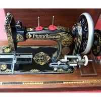 Treadle and Hand Crank Machines. Frister & Rossmann High Arm Transverse Shuttle Hand Crank