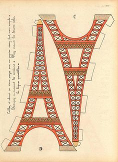 page 2 of the awesome Eiffle tower paper craft